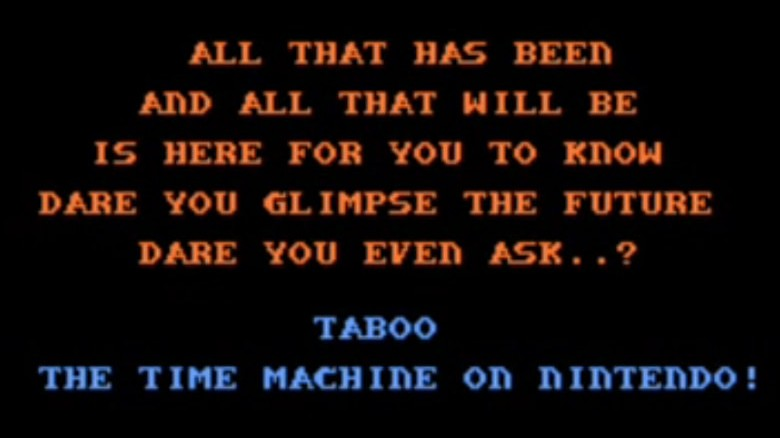 taboo nintendo time machine