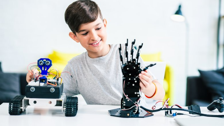 smart kid genius robot