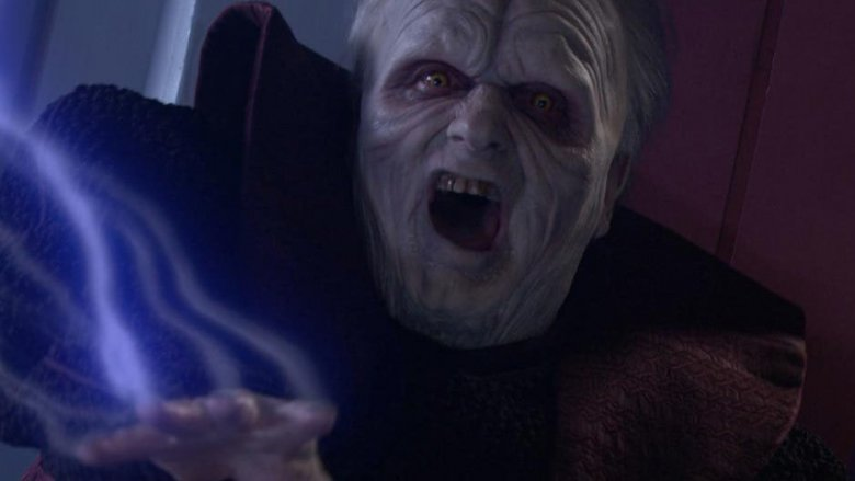 Palpatine's transformation in Revenge of the Sith