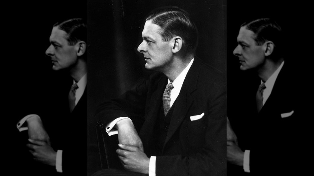 ts eliot profile sitting holding other hand