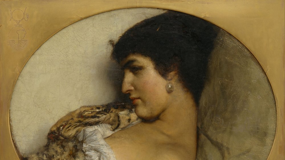 A painting of Egyptian ruler Cleopatra