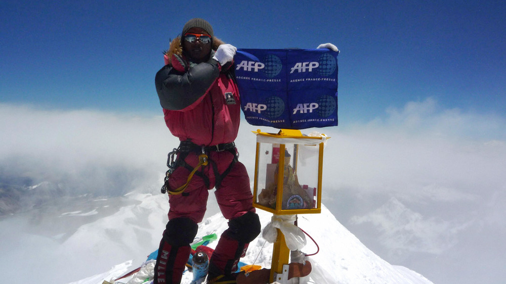 On top of Everest