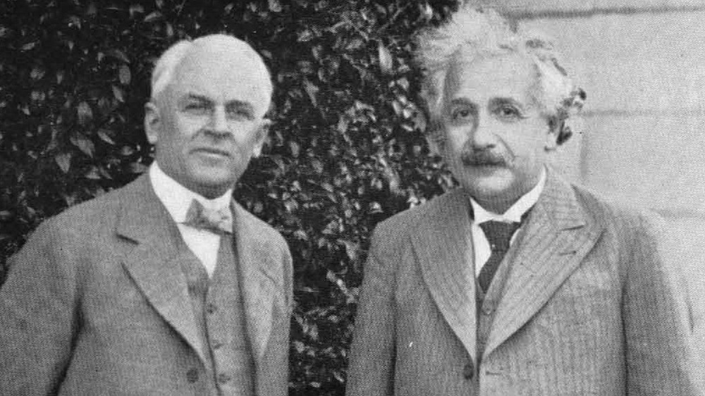 Millikan and Einstein, 1932