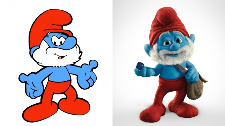 Heres What Might Be The Creepiest Recreation Of A Beloved Animated Classic Ever Papa Smurf Hollywood Course Just Wont Leave Our Warm And Fuzzy