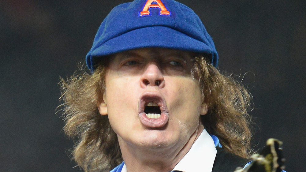Angus Young on stage