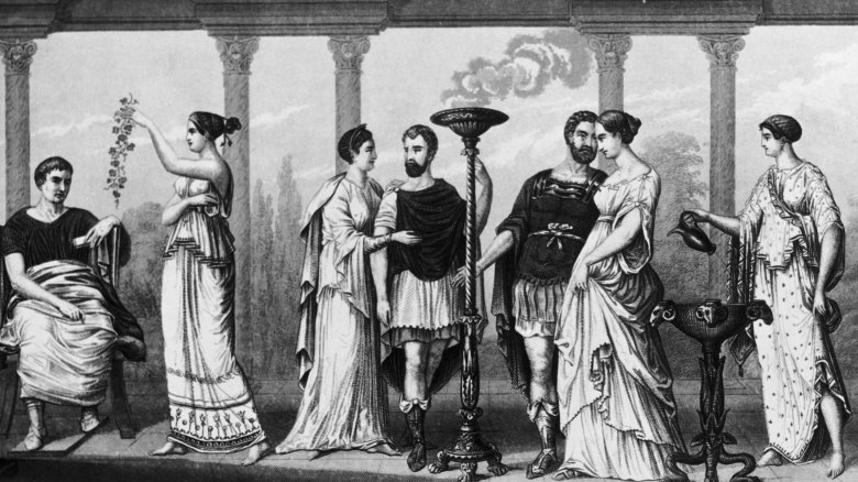 ancient greek men and women