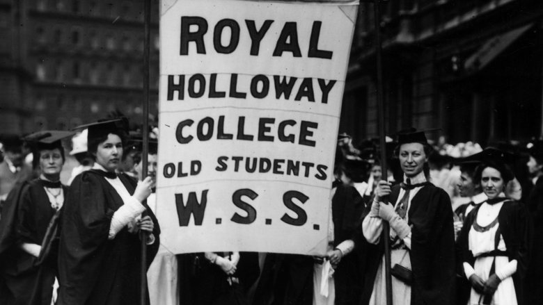 Royal Holloway College students
