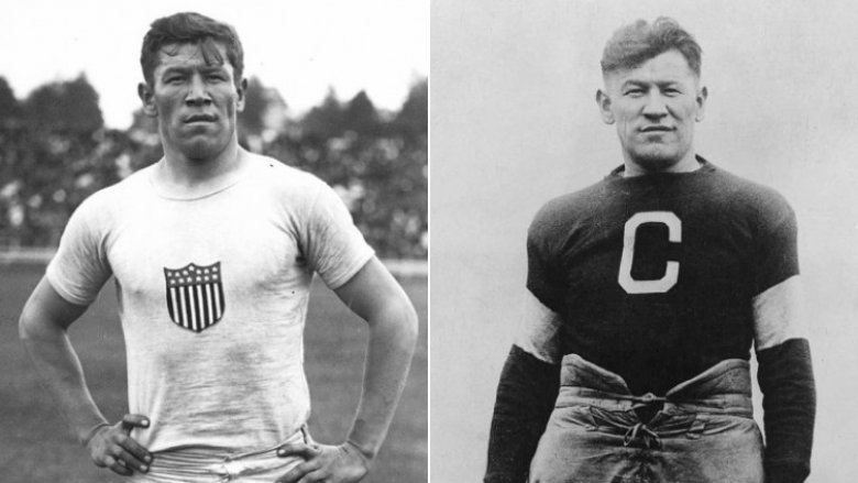 Jim Thorpe at Olympics and as football player