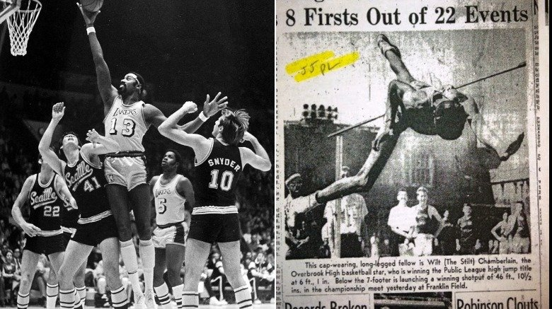 Wilt Chamberlain on Lakers and in newspaper