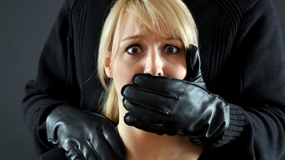 Woman being kidnapped