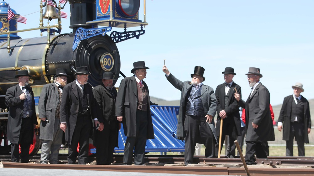 transcontinental railroad opening reeanctment