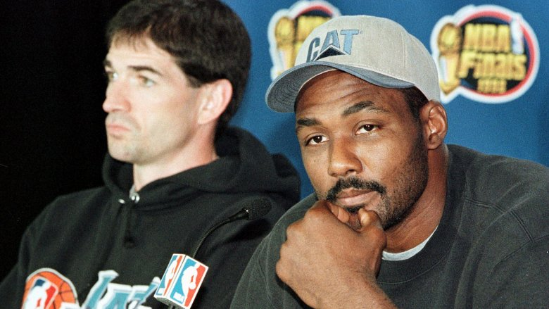 John Stockton and Karl Malone press conference