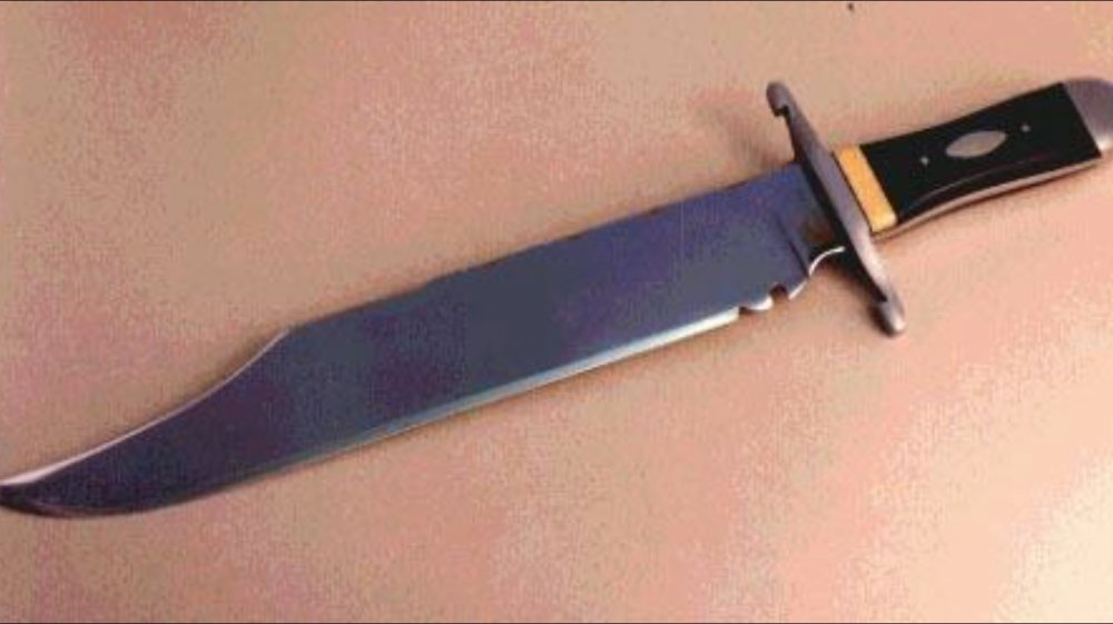Bowie knife close up
