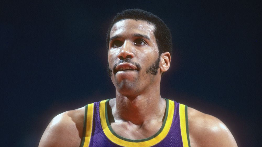 Adrian Dantley on the court.