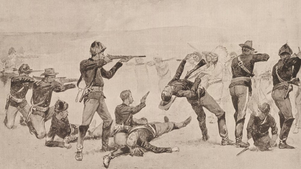 Illustration of Wounded Knee Massacre