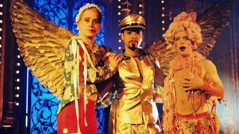 Party Monster versions of Michael Alig, Angel Melendez and James St. James posing
