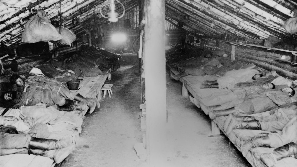 Sleeping quarters in an eastern labor camp