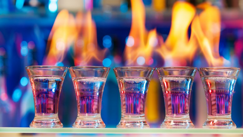 flaming shots liquor