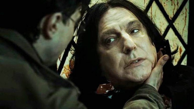 Daniel Radcliffe and Alan Rickman in Harry Potter and the Deathly Hallows: Part 2