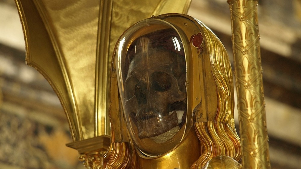 Reputed skull of Mary Magdalene