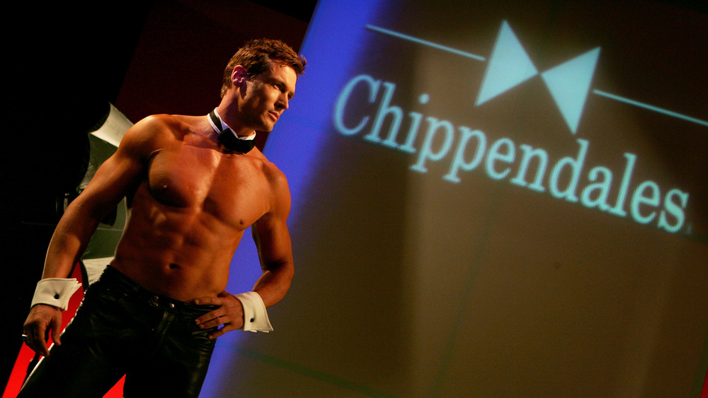 Dancer posing on stage at Chippendales