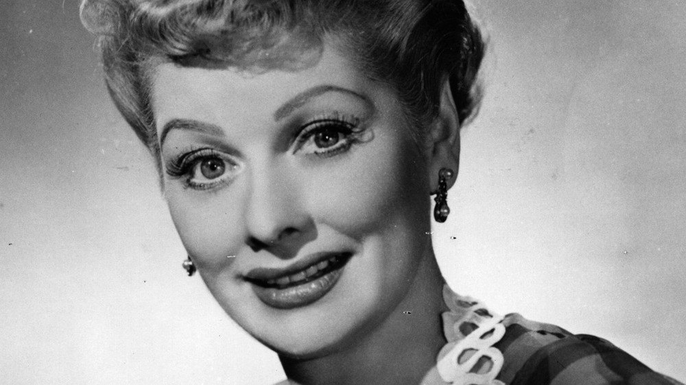 closeup of lucille ball