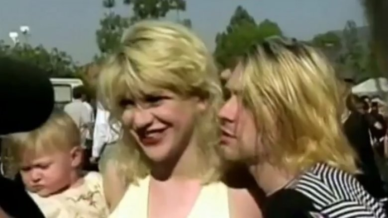 Kurt Cobain, Courtney Love, and Frances Bean Cobain