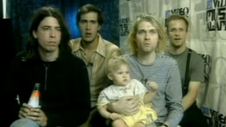 Nirvana with Frances Cobain at 1993 MTV VMAs