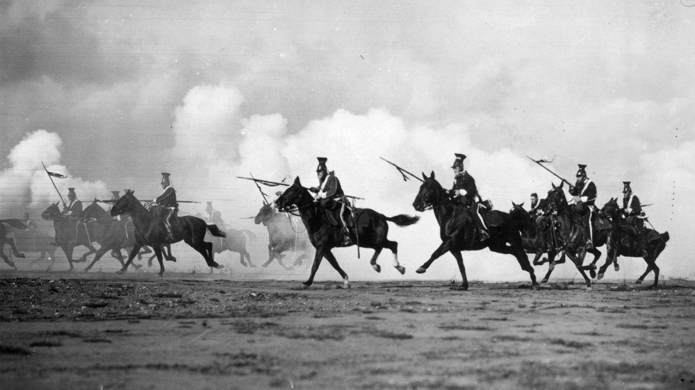 Film recreation of the Charge of the Light Brigade