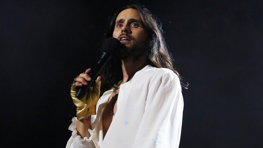 A shot of Jared Leto from Thirty Seconds to Mars