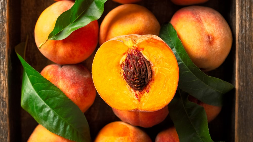 The stone fruit known as the peach