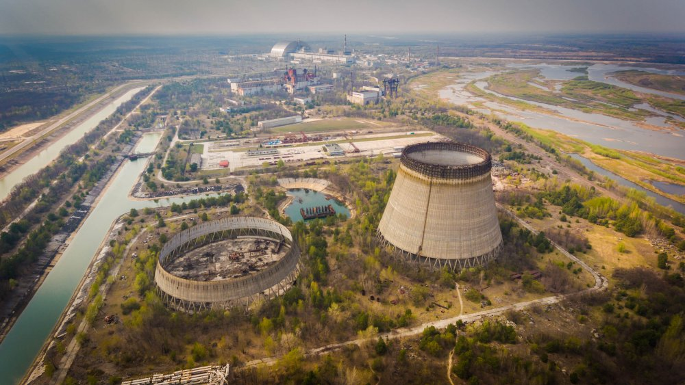 Aerial shot of Chernobyl