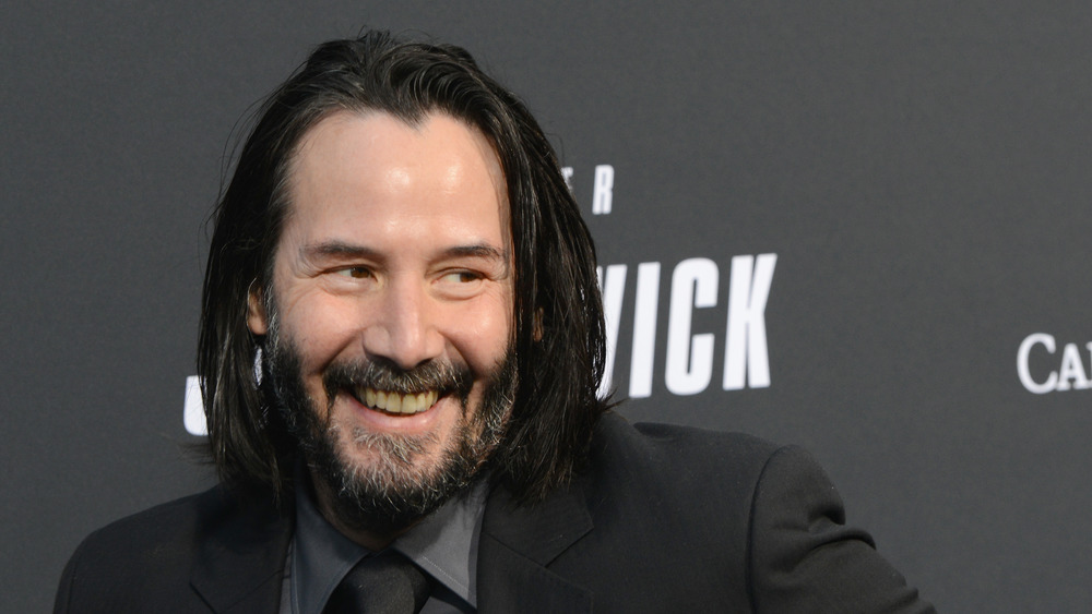 Keanu Reeves at the premiere for John Wick 3 in 2019