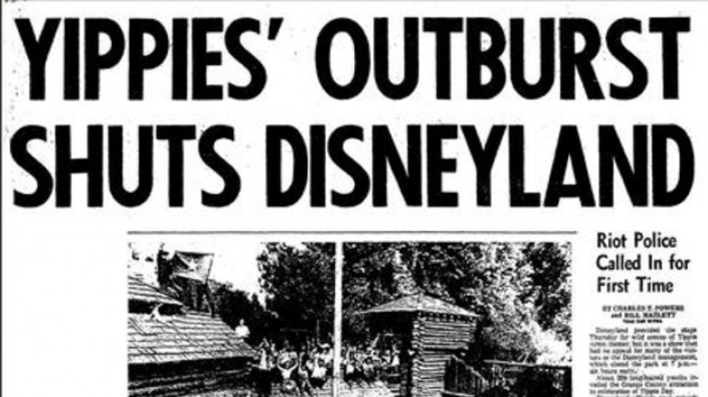 yippies disneyland newspaper