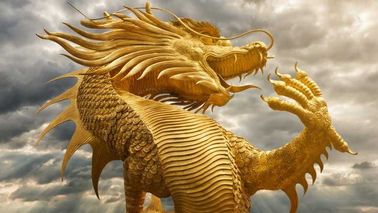 chinese dragon golden