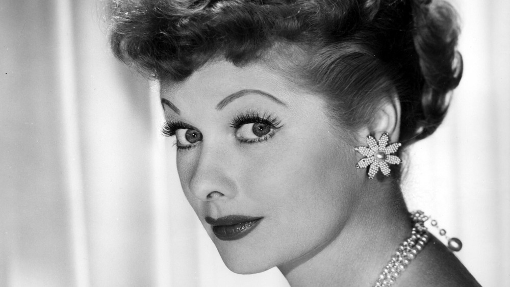 Lucille Ball half smiling