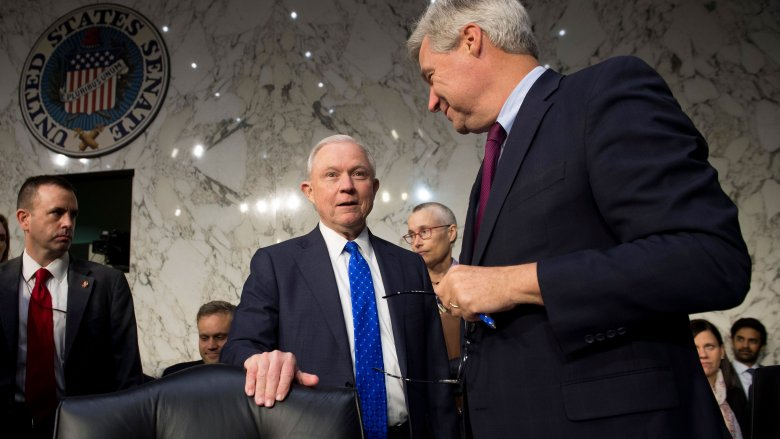 Jeff Sessions and sheldon whitehouse