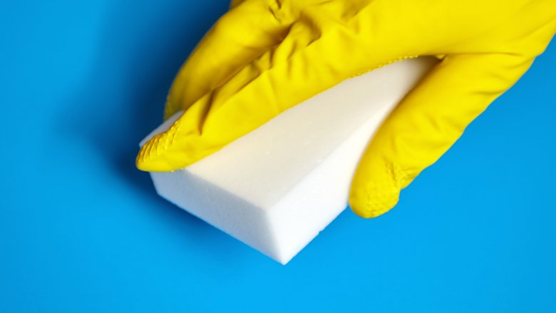 Cleaning with a magic eraser