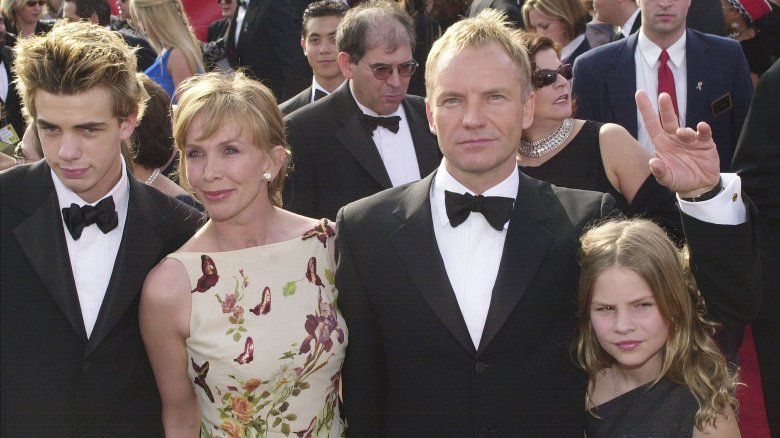 Sting and family