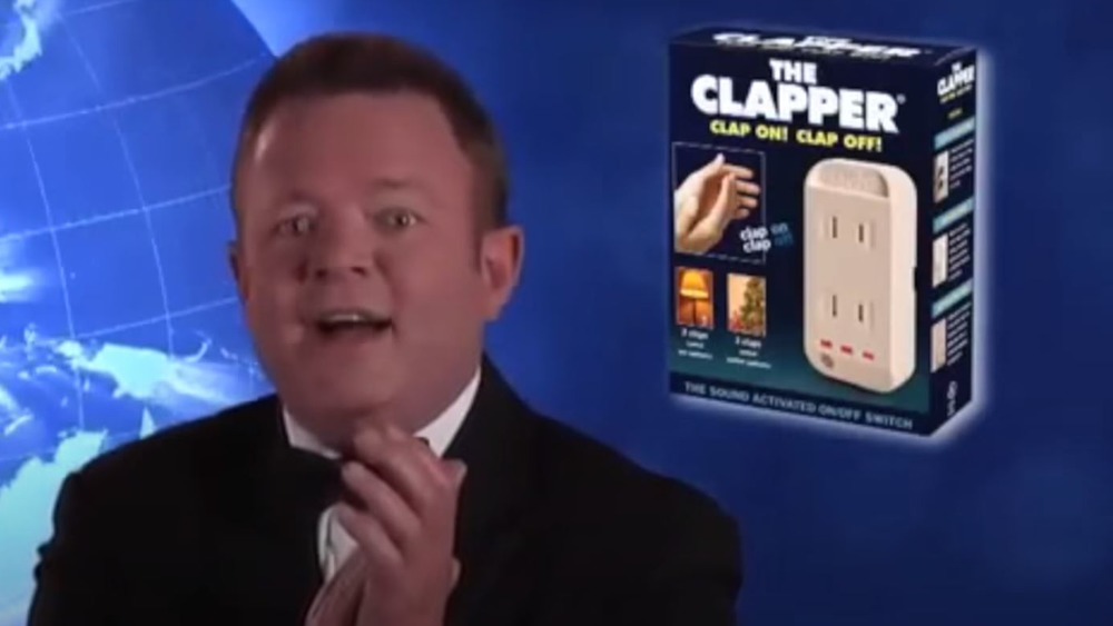 World Class Clapper Kent French advertises The Clapper