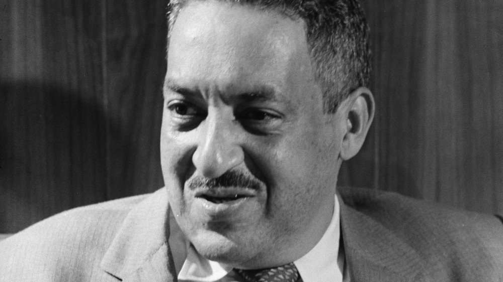 Lawyer Thurgood Marshall poses for a portrait on September 17, 1957