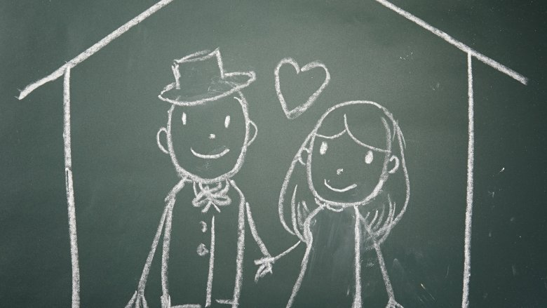 chalkboard couple