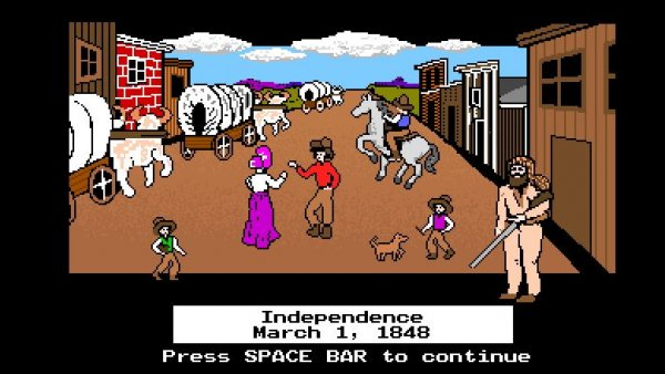Parts of the Oregon Trail game only grown-ups see