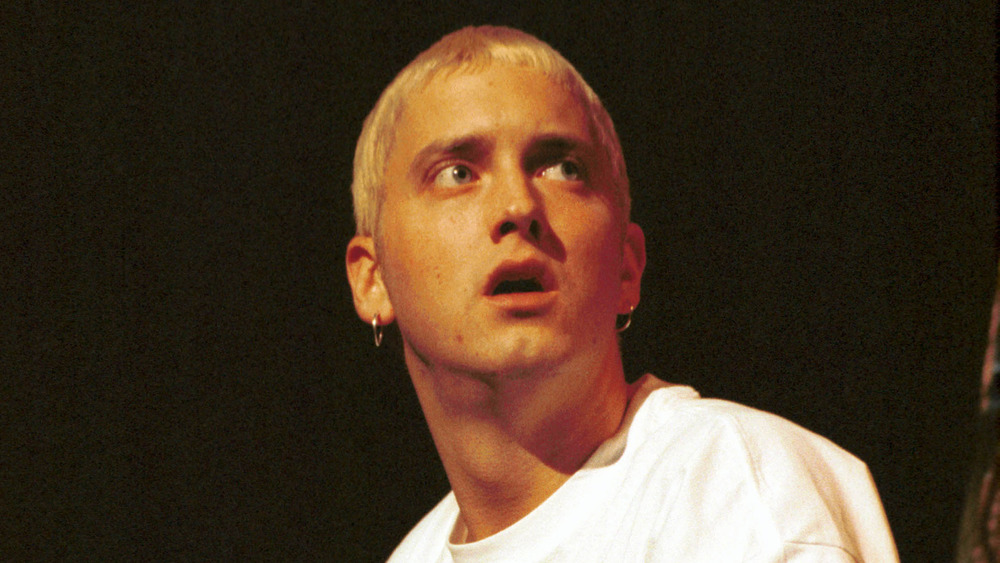 Eminem with mouth open