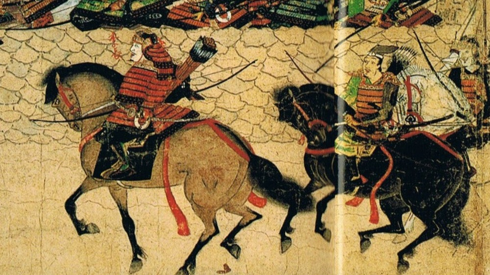 mongol warriors riding horses