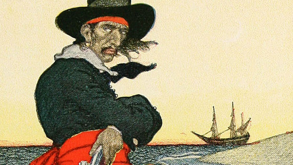 Pirate with pistol and earring