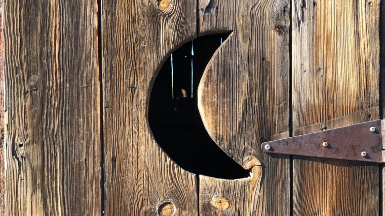 Outhouse crescent moon