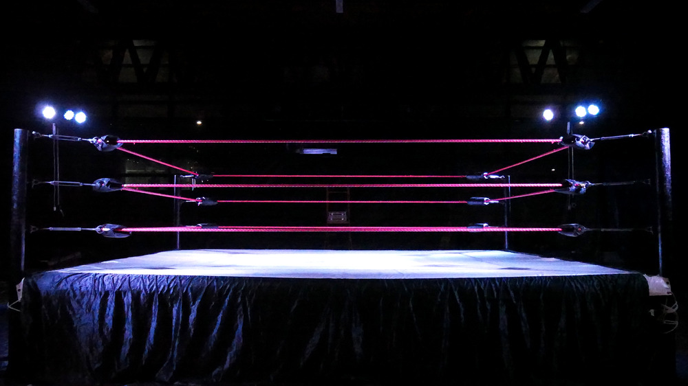 Stock image of wrestling ring