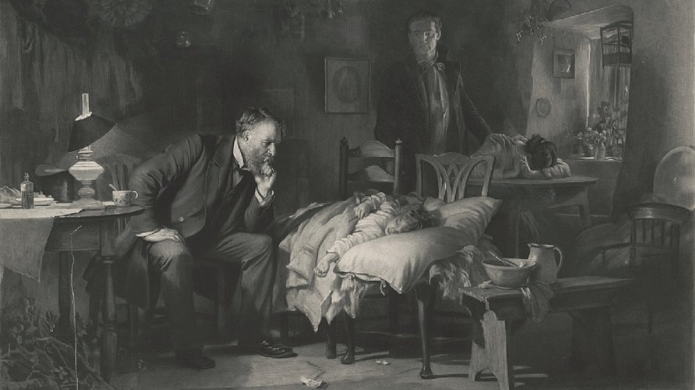 Doctor with patient, 1893