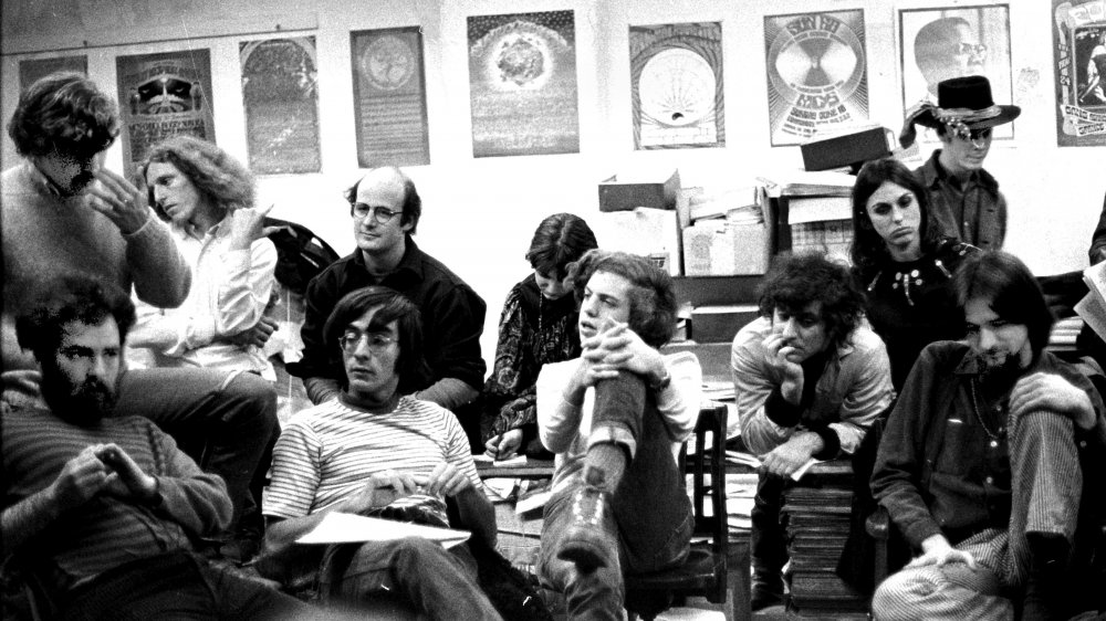 Abbie Hoffman and activists